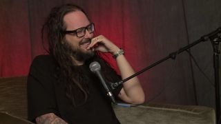 A picture of Jonathan Davis in the Nights With Alice Cooper studio