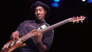 Marcus Miller playing fretless bass