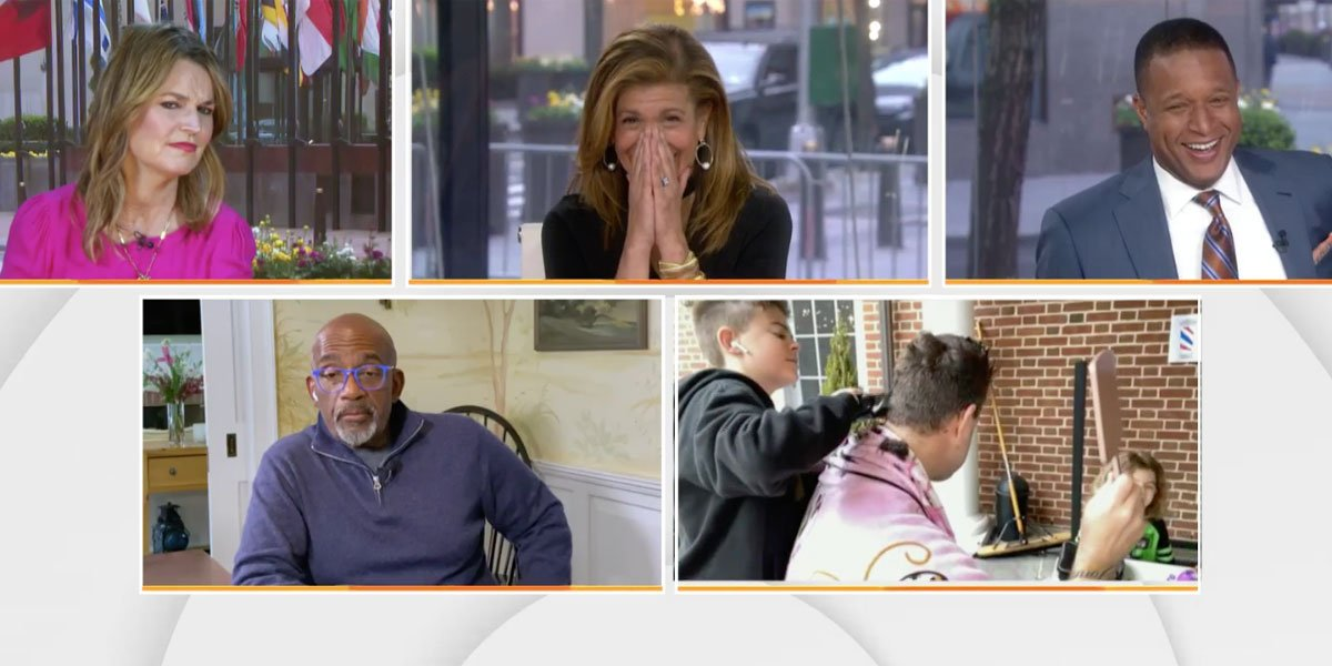 Hoda freaking out over Carson Daly's hair cut