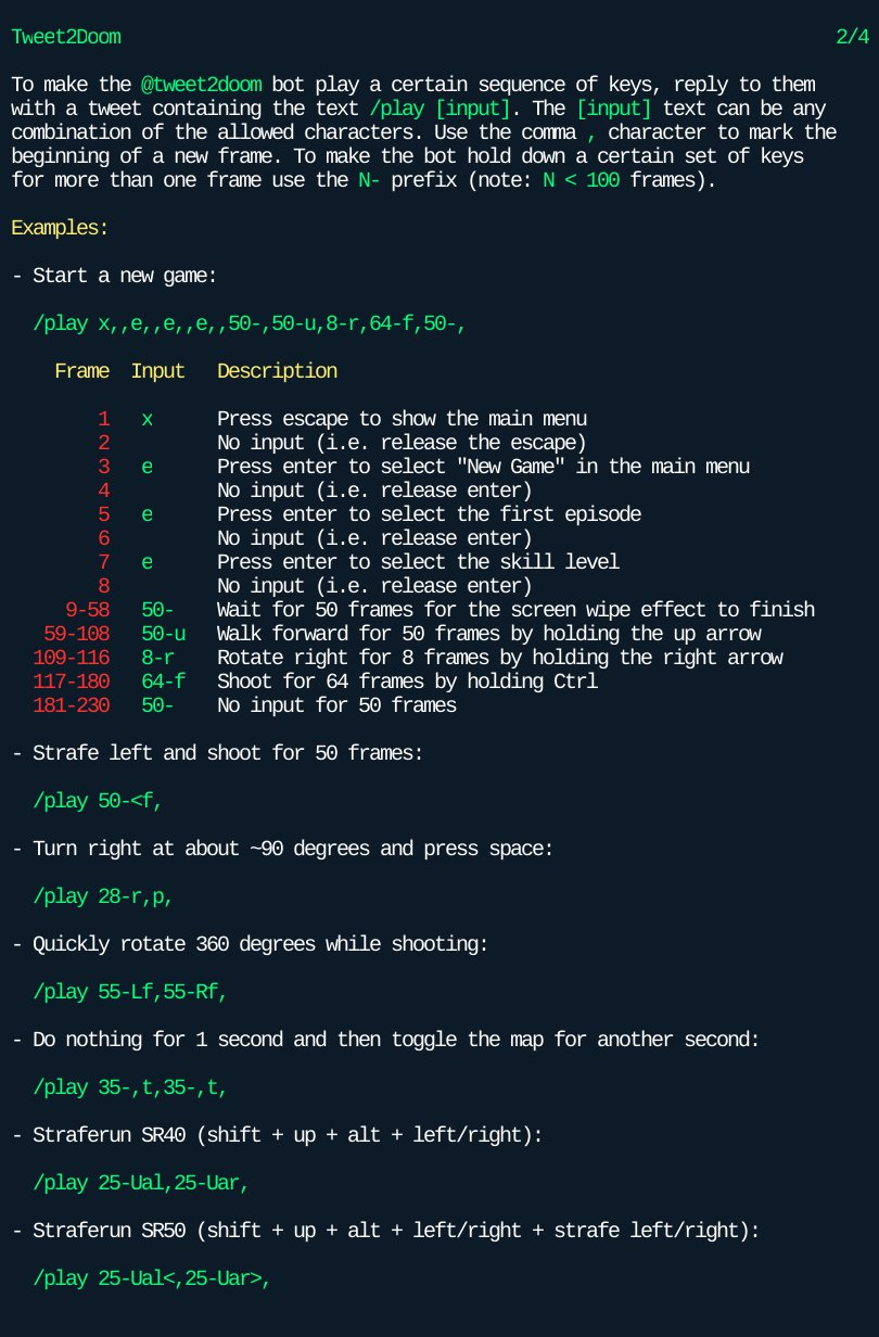 Tweet2Doom bot instructions