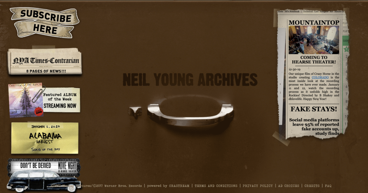 Studio-quality Neil Young Archives now available on BluOS devices