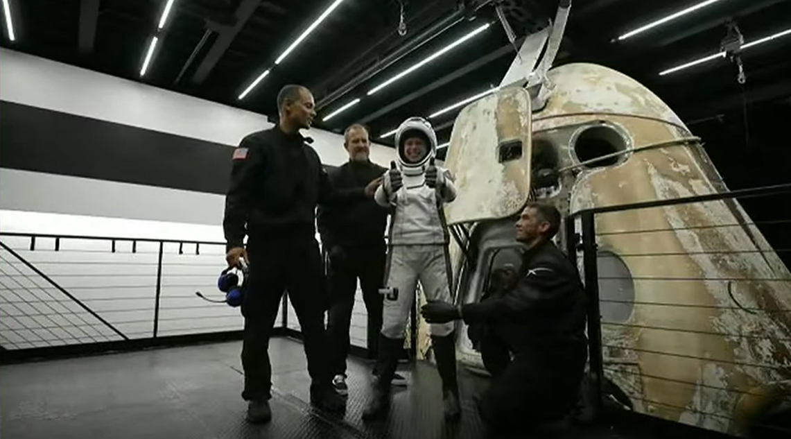SpaceX's all-civilian Inspiration4 astronauts are all smiles after splashing down in the Atlantic Ocean to end their historic three-day trip to orbit on the Crew Dragon Resilience.