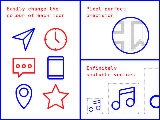 Download these 77 essential icons for free