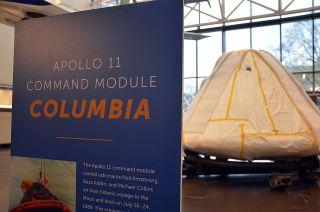 Apollo 11 Command Module on the Move