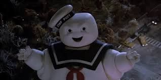 The Stay Puft Marshmallow Man on the rampage in New York