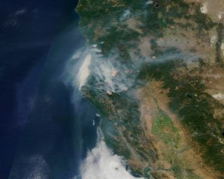 Fires in Shasta-Trinity National Forest, California