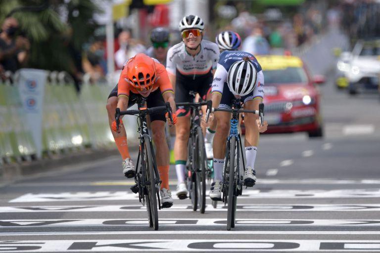 Lizzie Deignan pips Marianne Vos on the line at the 2020 La Course by Le Tour de France