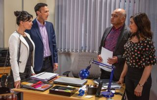 Rishi assures Jai that the business is safe in Emmerdale