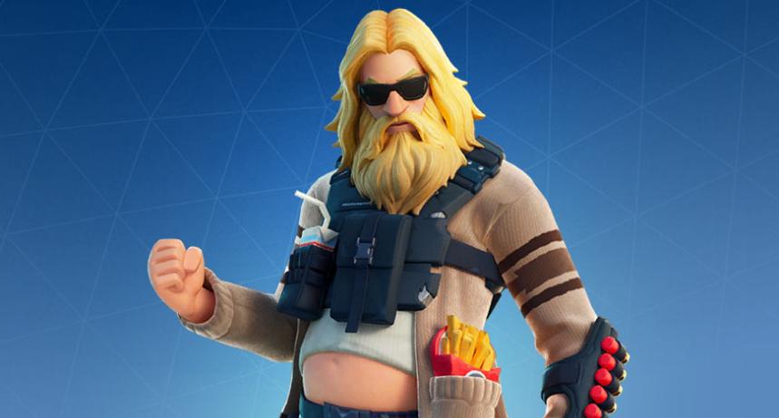 A Fortnite skin for a chubby, bearded version of Jonesy