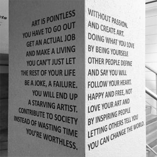 Motivational message aims to inspire struggling creatives