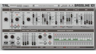 We can now get a proper look at the TAL BassLine 101 interface