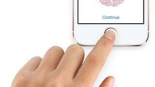 The Touch ID fingerprint sensor in the new iPhone 5S