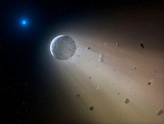 Asteroid Slowly Disintegrates