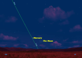Mercury in Night Sky