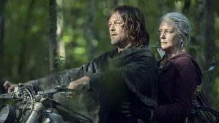 Norman Reedus and Melissa McBride in The Walking Dead