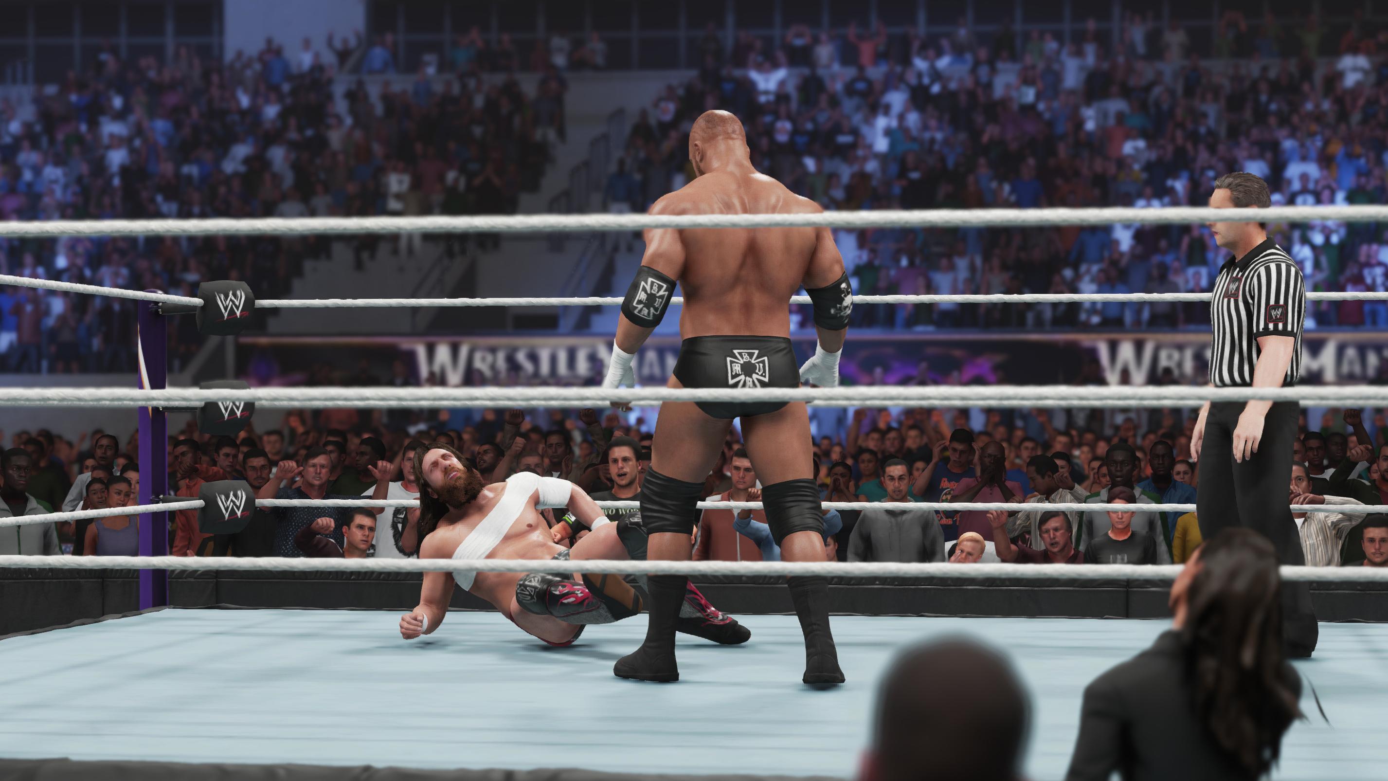 WWE screenshot in the ring