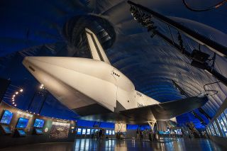 ASA's space shuttle Enterprise on display in New York City.