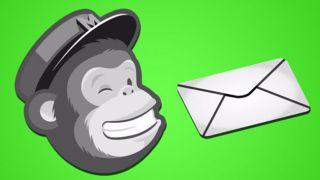 MailChimp logo of a monkey wearing a peak cap next to an envelope