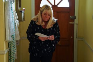 EastEnders Sharon Mitchell gets the paternity test results