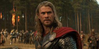 Chris Hemsworth as Thor in The Dark World