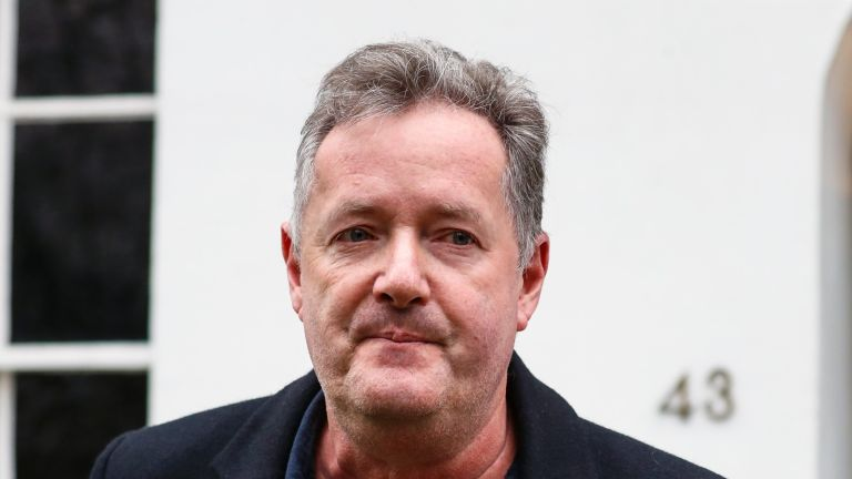 LONDON, ENGLAND - MARCH 10: Piers Morgan seen leaving his West London home to take his daughter Elise to school on March 10, 2021 in London, England. (Photo by MWE/GC Images)