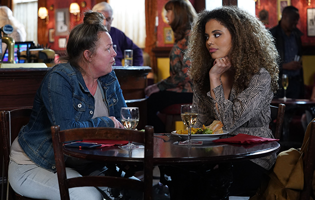 EastEnders Karen Taylor and Chantelle Atkins