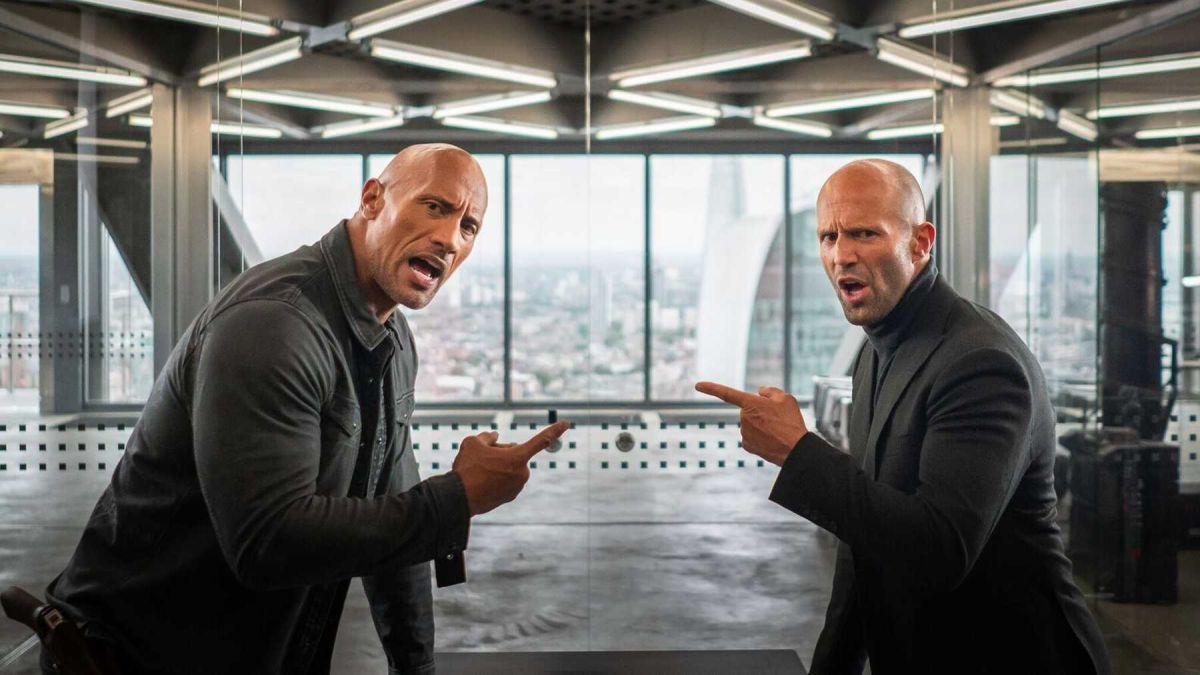 "Jason Statham talks Dwayne Johnson's ""fake tattoos"", Hobbs & Shaw sequel, and going from diver to blockbuster actor"