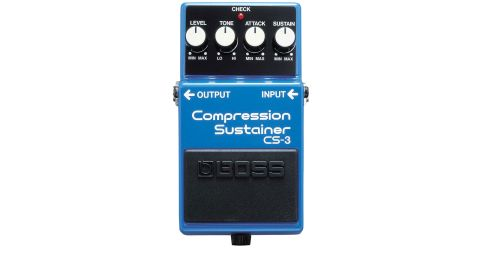 The four control knobs (level, tone, attack and sustain) offer impressive versatility for the money