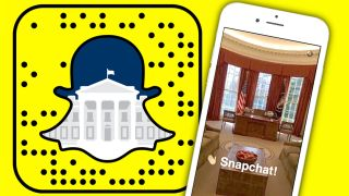 You can follow the goings-on at the White House using Snapchat