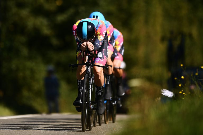 Ribble-Weldtite during the Tour of Britain TTT