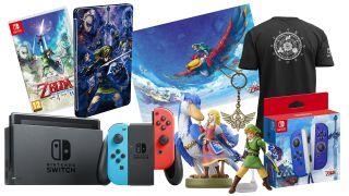 Zelda competition - Nintendo Switch, plus a copy of Skyward Sword HD, and lots of Zelda merch