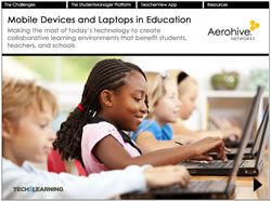 Mobile Devices and Laptops in Education