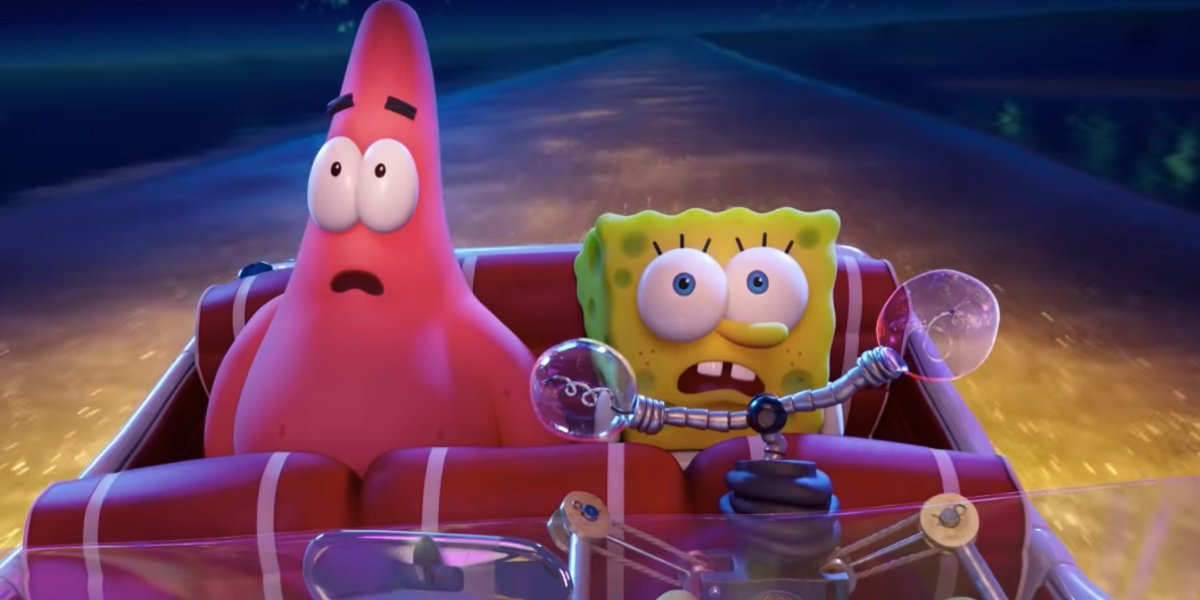 The SpongeBob Movie: Sponge on the Run Patrick and SpongeBob behold a glowing cityscape
