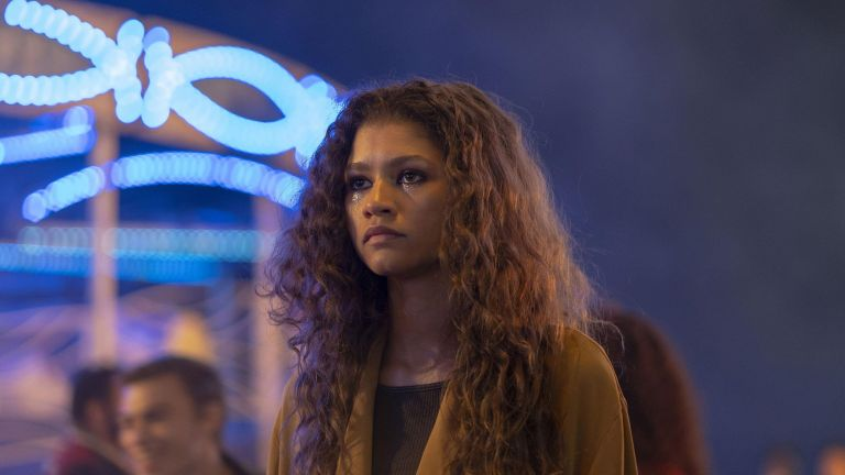 Zendaya as Euphoria's Rue in 2019