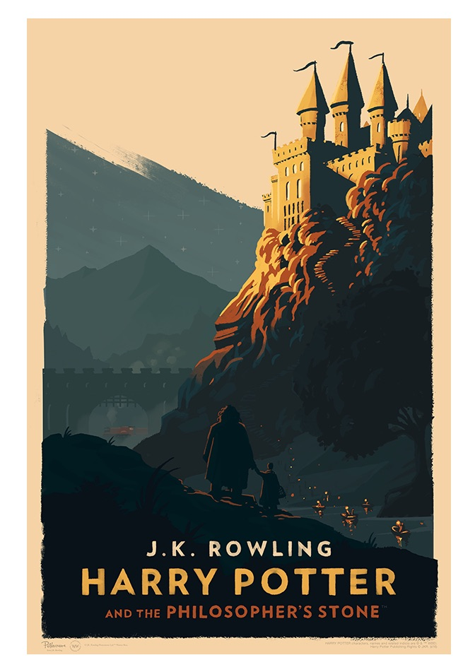 Harry Potter Olly Moss poster