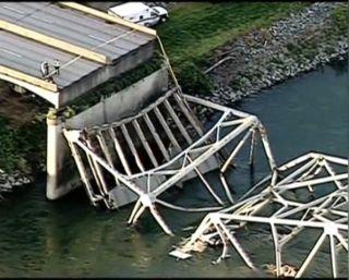 collapsed bridge in Washington state