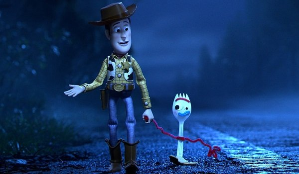 Forky Woody Toy Story 4 Pixar