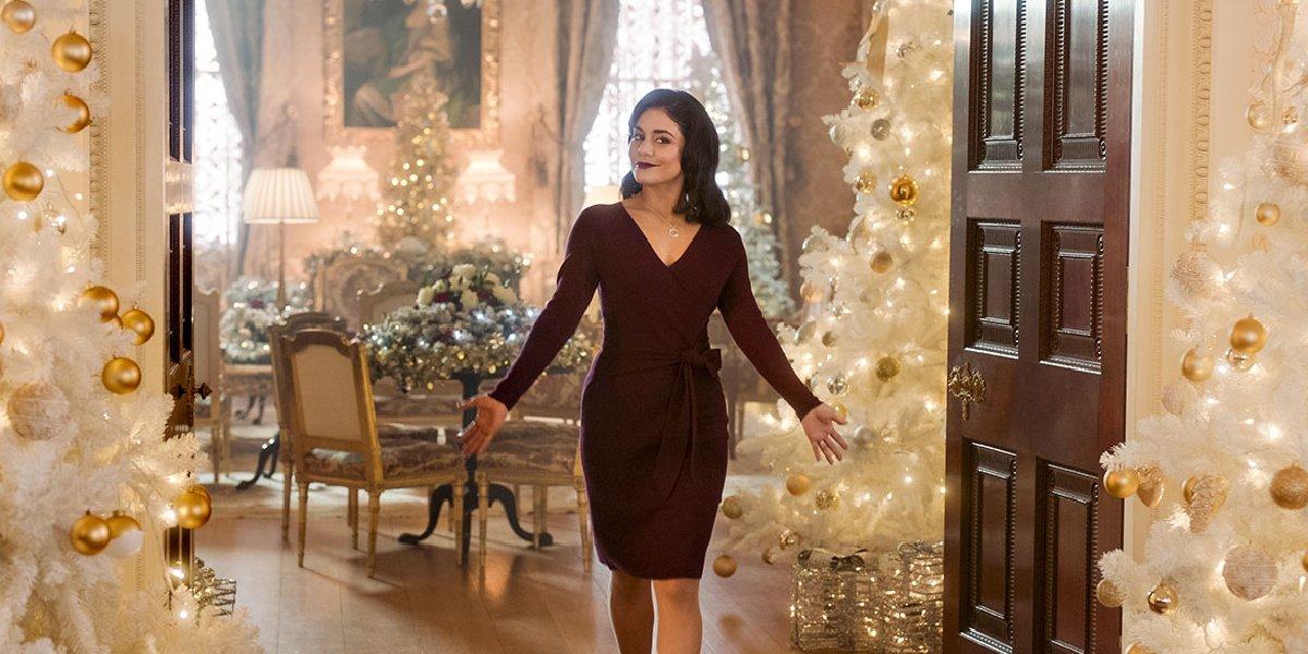 Vanessa Hudgens as Queen Margaret in the Princess Switch.