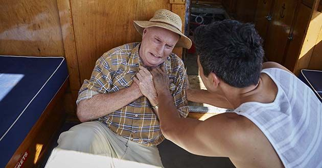 Alf Stewart collapses in Home And Away.