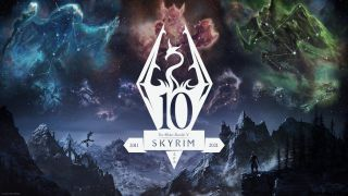 The logo for The Elder Scroll V: Skyrim Anniversary Edition