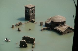 The sunken village of Fabbriche di Careggine, Tuscany, could reappear in 2021.