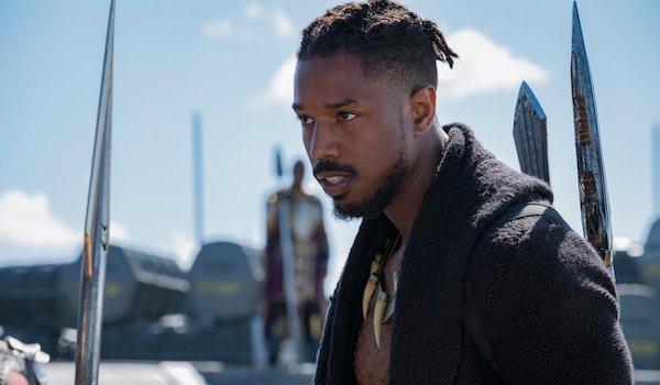 Michael B. Jordan as Killmonger in Black Panther