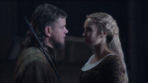 Matt Damon and Jodie Comer in 'The Last Duel'.