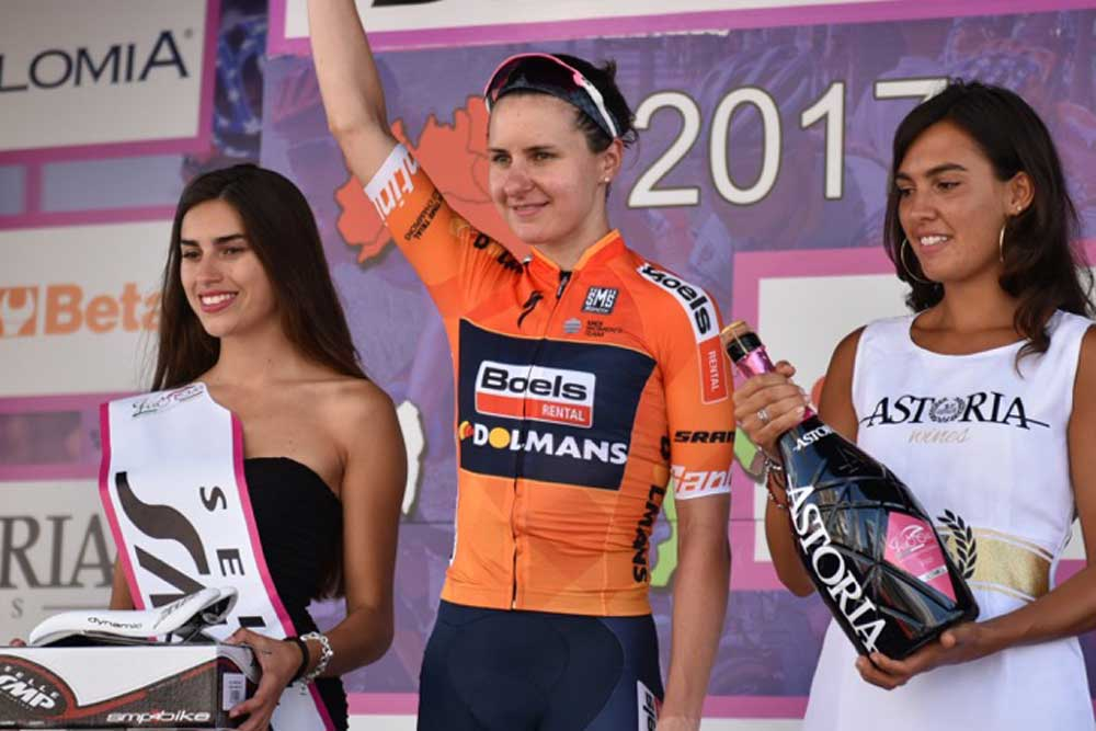 Megan Guarnier wins stage ten of the 2017 Giro Rosa