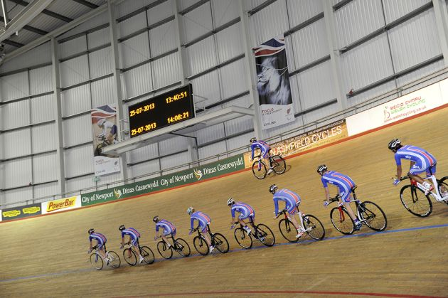 Newport track inside GB training
