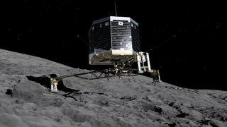 Philae Probe on Comet 67p/Churyumov-Gerasimenko