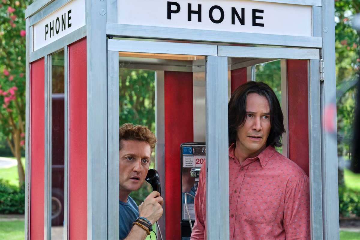 Bill and Ted in the time travel machine
