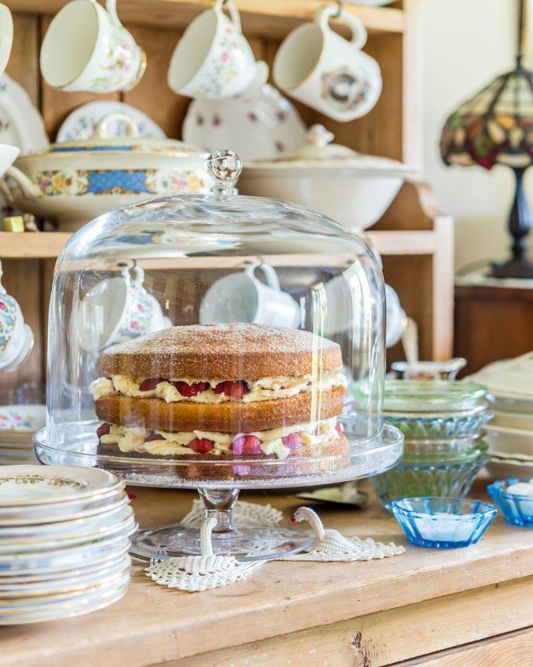 Cake on dresser