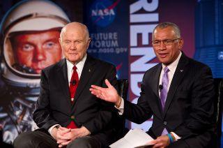 John Glenn and NASA Chief Charlie Bolden
