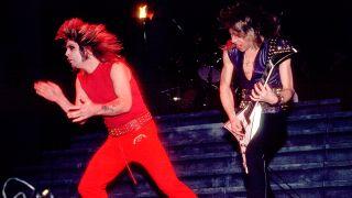 [L-R] Ozzy Osbourne and Randy Rhoads